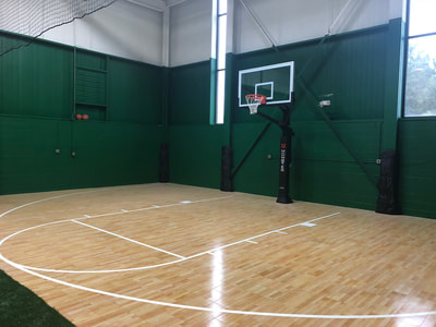 Indoor Basketball Court at an Athletic Training Center